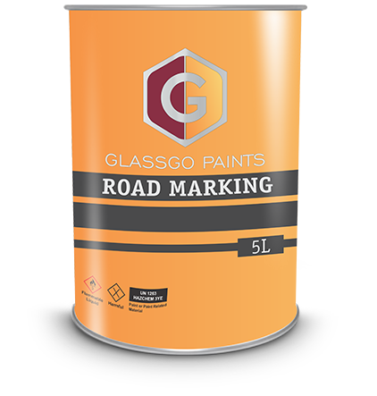 road-marking paint tin